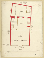 [5 Plan of property in Queen Street occupied by Edwd., Thos., Nealson, dated February 1767]